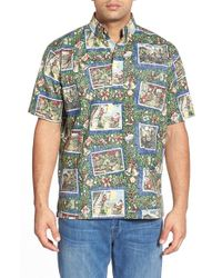 Reyn Spooner | Blue 'hawaiian Christmas' Classic Fit Wrinkle Free Pullover Shirt for Men | Lyst
