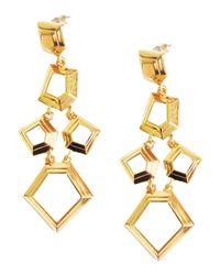 Lele Sadoughi - Metallic Faceted Chip Chandelier Earrings - Lyst