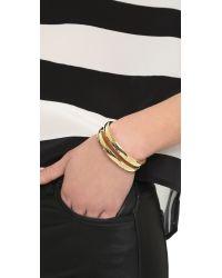 Elizabeth and James - Metallic Abbott Cuff Bracelet - Lyst