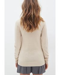Forever 21 - Brown Crew Neck Sweater - Lyst
