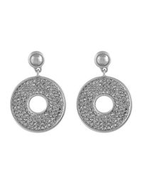 Karen Kane - Metallic Iris Open Disc Drop Earrings - Lyst