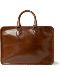 Berluti - Brown Un Jour Venezia Leather Briefcase for Men - Lyst