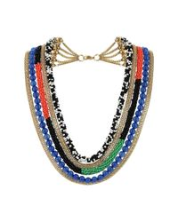 TOPSHOP | Multicolor Multi Row Beaded Necklace | Lyst
