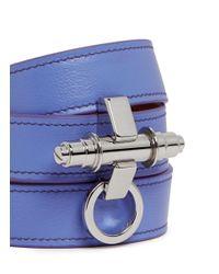 Givenchy | Purple 'Obsedia' Triple Wrap Leather Bracelet | Lyst