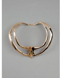 Undercover | Metallic Double Spiked Necklace | Lyst