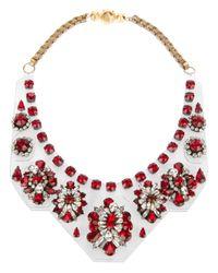 Shourouk - Red 'primavera' Necklace - Lyst