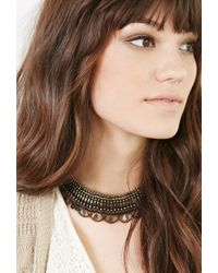 Forever 21 - Metallic Burnished -inspired Choker - Lyst