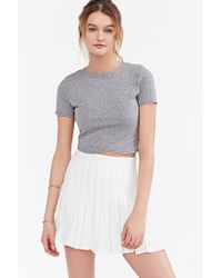 Silence + Noise - Gray Crossing Over Cropped Top - Lyst