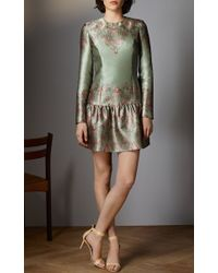Vilshenko - Green Peyton Mini Dress - Lyst