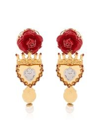 Dolce & Gabbana | Sacred Heart Earrings | Lyst