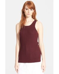 Marc By Marc Jacobs | Brown 'compact' Cotton Tank | Lyst