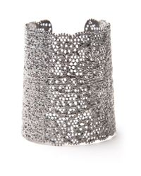 Aurelie Bidermann | Metallic Silver-Plated Vintage Lace Cuff | Lyst