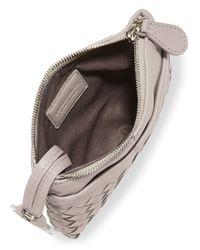 Bottega Veneta - Natural Zip-Top Woven Leather Key Pouch - Lyst