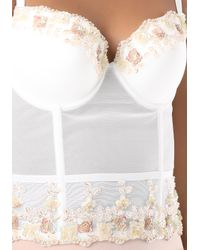 Bebe | White Selena Floral Bead Bustier | Lyst