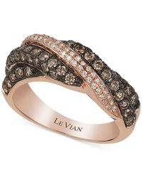 Le Vian | Metallic Chocolatier® Diamond Ring (1-1/10 Ct. T.w.) In 14k Rose Gold | Lyst