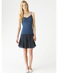 Jigsaw - Blue Lace Trim Thermal Vest - Lyst