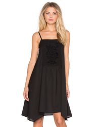 Band Of Gypsies | Black Square Neck Shift Dress | Lyst