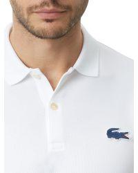 Lacoste | White Slim Fit L!ve Polo Shirt for Men | Lyst