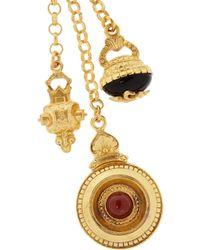 Ben-Amun - Metallic Gold-Plated Charm Necklace - Lyst