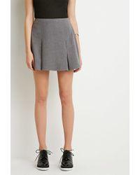 Forever 21 - Gray Pleated Mini Skirt - Lyst