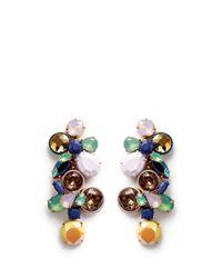 J.Crew Multicolor Gem Cluster Earrings