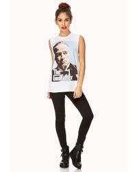 Forever 21 - White The Godfather Muscle Tee - Lyst