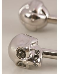 Alexander McQueen | Metallic Skull Belly Button Ring | Lyst