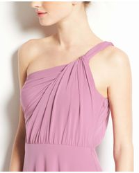Ann Taylor - Purple Jersey One Shoulder Bridesmaid Dress - Lyst