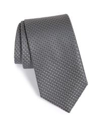 John W. Nordstrom | Gray 'terrano' Geometric Silk Tie for Men | Lyst