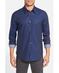 Ted Baker - Blue 'brunor' Extra Trim Fit Check Sport Shirt for Men - Lyst