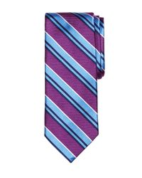 Brooks Brothers - Purple Bold Twin Stripe Tie for Men - Lyst