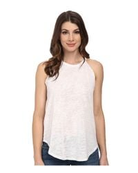 LNA | White Burnout Bib Tank Top | Lyst