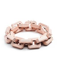 Eddie Borgo - Metallic Matte Rose Gold Plated Supra Link Bracelet - Lyst