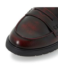 Dune - Purple Gleat Cleated Sole Penny Loafers - Lyst