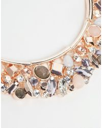 Oasis - Metallic Semi Precious Mixed Stone Articulated Collar - Lyst