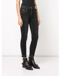 AMO   Blue 'babe Ink' Skinny Cropped Jeans   Lyst