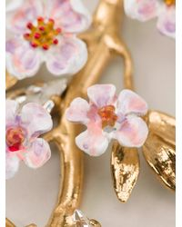 Dolce & Gabbana | Metallic Embossed Detail Earrings | Lyst