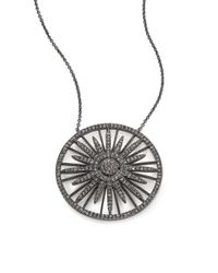 Adriana Orsini | Metallic Radiance Crystal Sun Pendant Necklace | Lyst