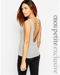 ASOS | Gray Petite Exclusive Forever Vest With Scoop Back | Lyst