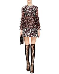 Giamba | Multicolor Pussy Bow Collar Printed Dress | Lyst