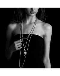 David Yurman | Metallic Cable Wrap Pendant Diamonds | Lyst