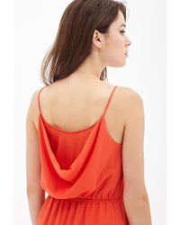 Forever 21 | Orange Contemporary Layered Surplice Cami Dress | Lyst