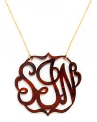 BaubleBar - Metallic Extra Large Acrylic Script Monogram Necklace - Lyst