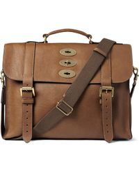 Mulberry | Brown Ted Convertible Leather Messenger Bag for Men | Lyst