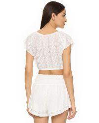 L*Space - Natural Summer Of Love Crop Top - Lyst