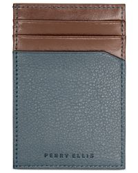 Perry Ellis | Blue Pocket Magnetic-clip Wallet for Men | Lyst
