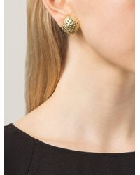Vaubel - Metallic Woven Square Clip Earrings - Lyst