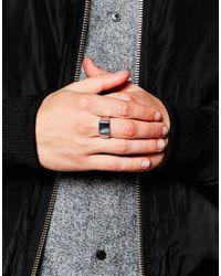 Mister - Metallic Signet Ring for Men - Lyst