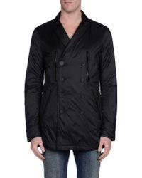 DIESEL - Black Full-length Jacket for Men - Lyst