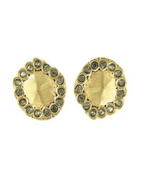 House of Harlow 1960 | Metallic Geodesic Stud Earrings | Lyst